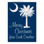 Merry Christmas from SC Blue Palmetto Moon Card