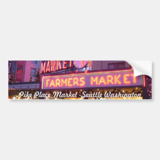Merry Christmas from Seattle Pike Place Market Bumper Sticker