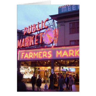 Merry Christmas from Seattle Pike Place Market Greeting Card