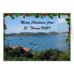 Merry Christmas from St. Thomas, U.S.V.I. Greeting Card