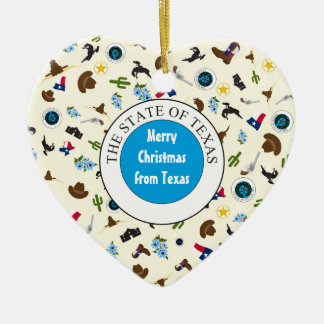 Merry Christmas from Texas Ceramic Ornament