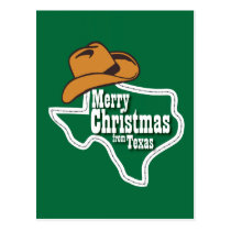 Merry Christmas from Texas Postcard