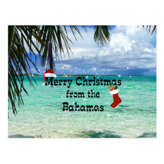 Merry Christmas from the Bahamas Postcard