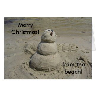 Merry Christmas!, from the beach! Card