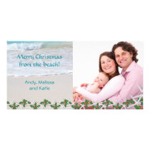 Merry Christmas From the Beach Family Card