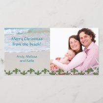 Merry Christmas From the Beach Family Holiday Card