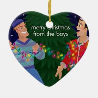 Merry Christmas From The Boys Ceramic Ornament