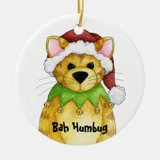 Merry Christmas from the Cat Bah Humbug Ornament