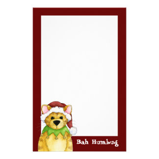Merry Christmas from the Cat Bah Humbug Stationery