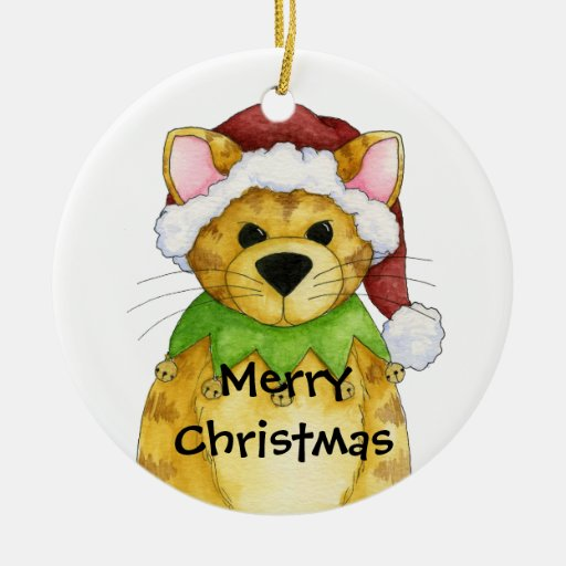 Merry Christmas from the Cat Ornament