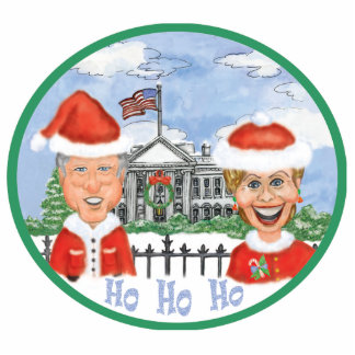 Merry Christmas from the Clintons Statuette