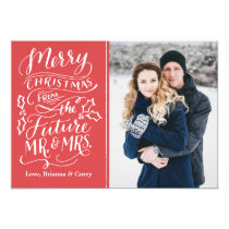 Merry Christmas From The Future Mr. and Mrs. Photo Card