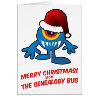 Merry Christmas! From The Genealogy Bug Card
