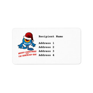 Merry Christmas! From The Genealogy Bug Custom Address Labels