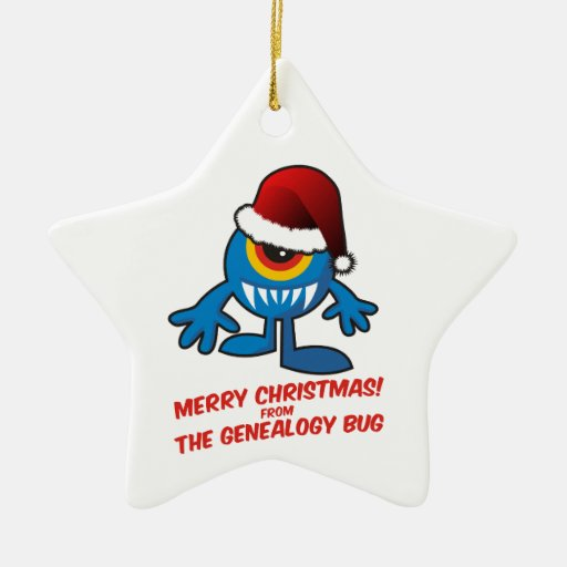 Merry Christmas! From The Genealogy Bug Christmas Tree Ornament