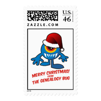 Merry Christmas From The Genealogy Bug Stamp
