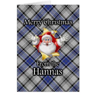 Merry Christmas From the Hannay Hanna Clan Tartan Greeting Card