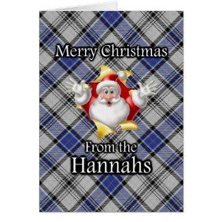 Merry Christmas From the Hannay Hannah Clan Tartan Card