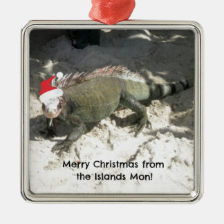 Merry Christmas from the Islands Mon! Metal Ornament