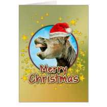 Merry Christmas from the laughing horse Card