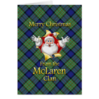 Merry Christmas From the McLaren Clan Greeting Card