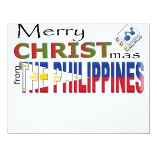 Merry Christmas From the Philippines 4.25x5.5 Paper Invitation Card