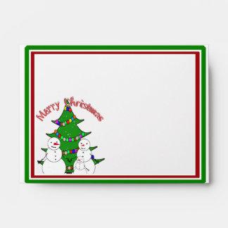 Merry Christmas from the Snowmen Family Envelopes