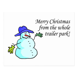 Merry Christmas From The Whole Trailer Park 2 Postcards