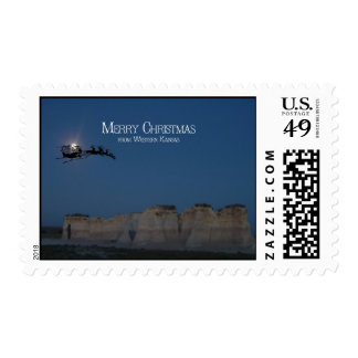 Merry Christmas from western Kansas 2 Stamps