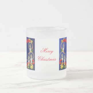 Merry Christmas Frosted Glass Coffee Mug