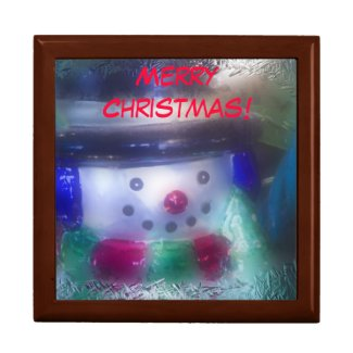 Merry Christmas Frosty Snowman Gift Box