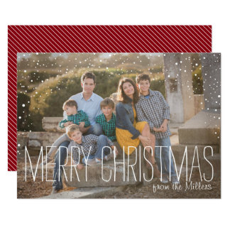 Merry Christmas Full Photo Card