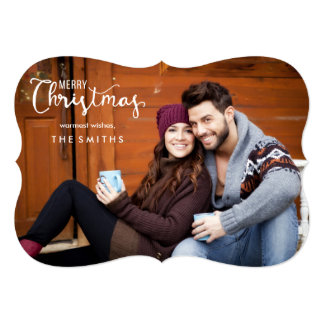 Merry Christmas Full Photo Flat Christmas Cards