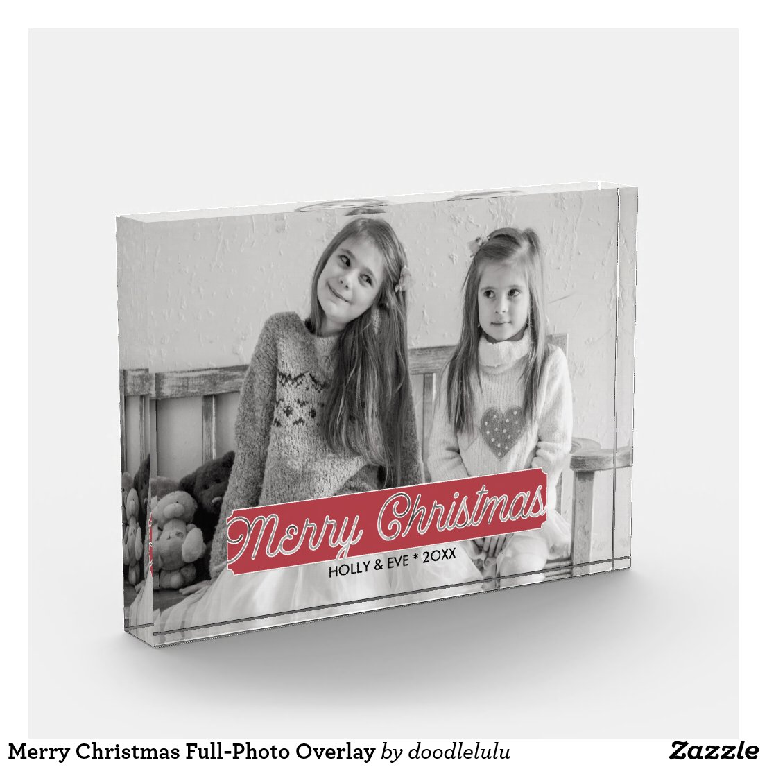 Merry Christmas Full-Photo Overlay Photo Block