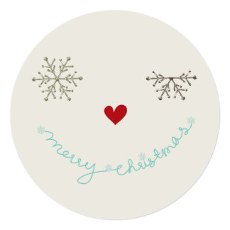 Merry Christmas Fun Smiley Wink Holiday Photo Card