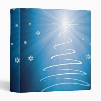 Merry Christmas Funky Christmas Tree 3 Ring Binder
