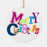 Merry Christmas Funky Ornament