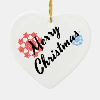 Merry Christmas Funny Home Decor Ceramic Ornament
