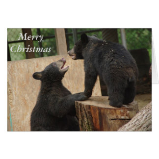 """Merry Christmas - """"Game of chase"""" greeting card"""
