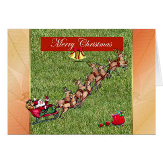 Merry Christmas gardener lawn care landscape Greeting Card