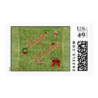 Merry Christmas gardener lawn care landscape Stamp