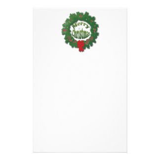 Merry Christmas Garland Stationery