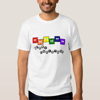 Merry Christmas Gay Pride Tee Shirt