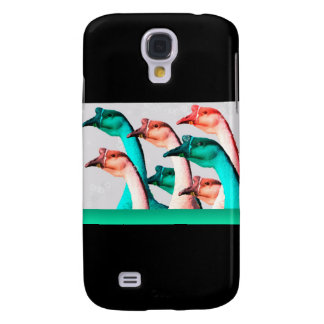 Merry Christmas: Geese Red & Green Say Merry Chris Galaxy S4 Covers
