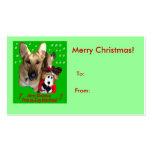 Merry Christmas German Shepherd Big Tag Business Card Templates