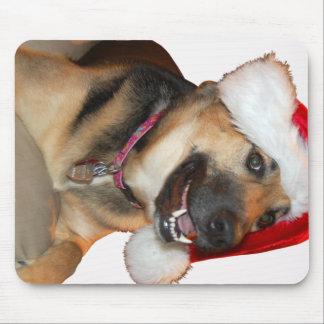 Merry Christmas German Shepherd Mouse Pad