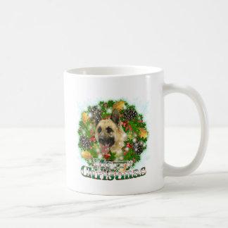 Merry Christmas German Shepherd Classic White Coffee Mug