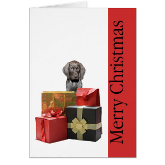Merry Christmas german shorthaired pointer Card