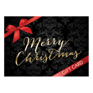 Merry Christmas Gift Certificates Large Business Card