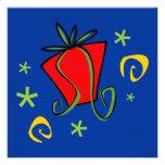 Merry Christmas Gift Exchange Flat Greeting Card